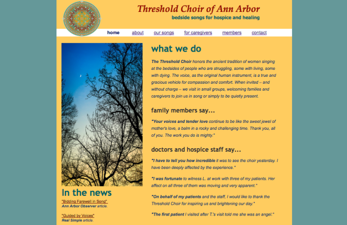 lindsay passmore_website design_threshold-choir-ann-arbor
